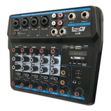 Mixer Interfaz Prodj U6 Consola Analoga Prodj U6 Grabacion