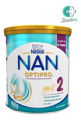 Leche Nestlé Nan Optipro 2 (6 A 12 Meses) En Lata X 900 G