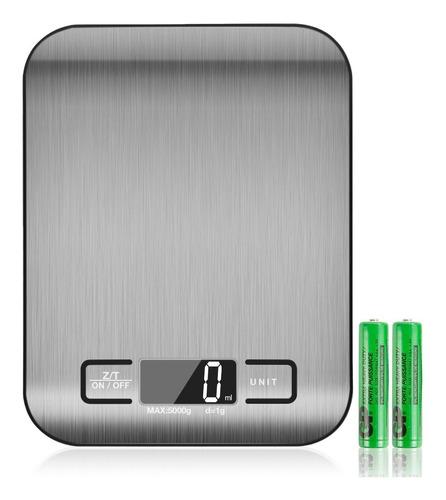 Bascula Digital Para Cocina Acero Inoxidable 5kg 6 Dígitos