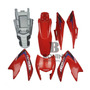 Kit Carenagem Nxr 150 Bros 2012 Es Vermelha C / Adesivos Original
