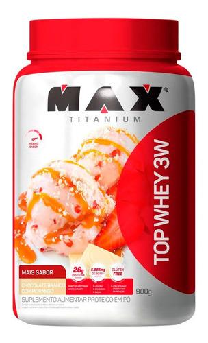 Top Whey 3w - 900g - Max Titanium - Todos Sabores