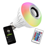 Lampara Luz Led Rgb Parlante Bluetooth 220v Control Remoto