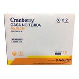 Gasa No Tejida Esteril Cranberry 10x10 Caja 50 Sobres