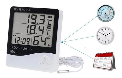 Higrometro Digital Termometro De Reloj Alarm Con Sensor