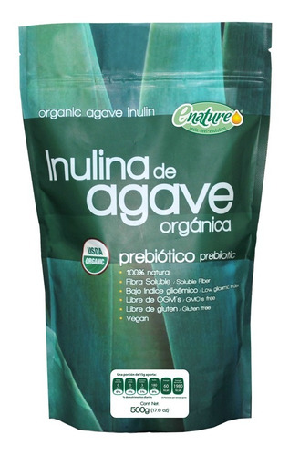 Inulina De Agave Orgánico Sabor Natural 500g