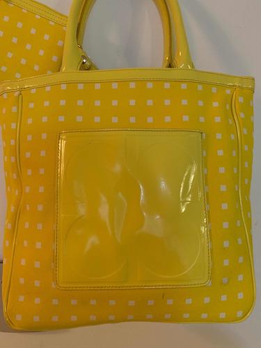 Bolsa Liz Claiborne Amarilla Seminueva Incluye Monedero