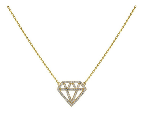 Collar Carmin De Plata Diamante Con Zirconias Blancas