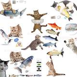 Pez Peluche Con Movimiento Juguetes Para Gatos Perro