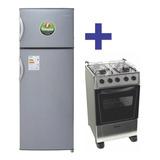Combo Cocina 4 H Inox + Heladera C/freezer James Thompson