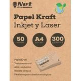 Papel Kraft Imprimible A4 300g 50 Hojas