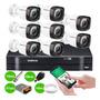 Kit Cftv 8 Camera Segurança Full Hd 1080p Dvr 1108 Intelbras Original