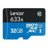 Tarjeta De Memoria Lexar Lsdmi32gbb-633a High-performance 633x Con Adaptador Sd 32gb
