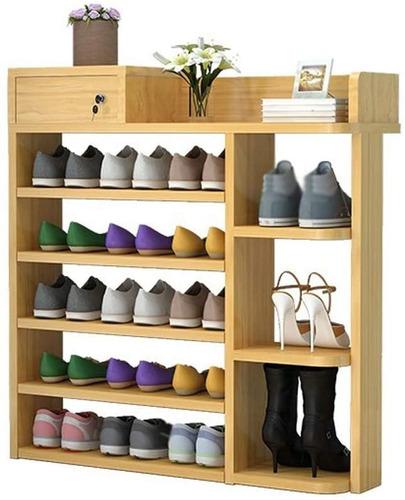 Organizador De Zapatos Color Walnu G20488 Ejecutivo Zapatero