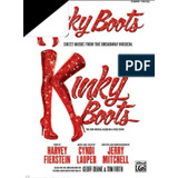Partitura Kinky Boots The Musical Vocal Score