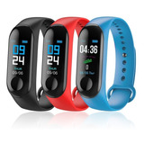 Smartwatch Reloj Inteligente Sumergible M3 Cardio Presion Celular Android Apple iPhone Fit Band Deportes Newvision