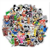 101 Calcomanias Stickers Pvc Contra Agua Premium Tu Escojes