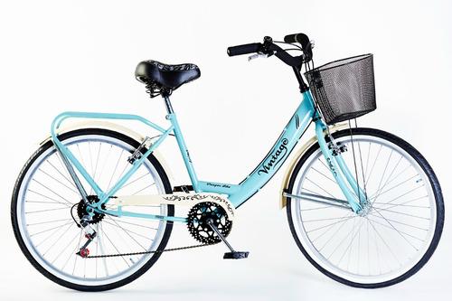 Bicicleta Paseo Con Cambios Rodado 26 Directa De Fabrica