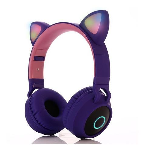 Auriculares Bluetooth Luz Led Orejas Cat Oferta