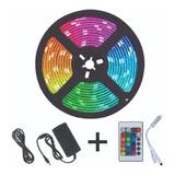 Cinta Led Multicolor Rgb Luz 5mts + Control + Adaptador