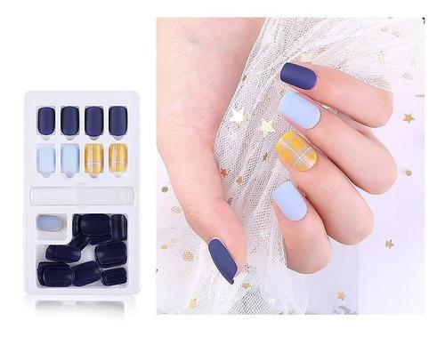 Press On Manicure, Kit Uñas Postizas  Con Diseños 30pcs