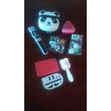 Bento Box + Palillos Y Moldes De Panda Importado De Japón