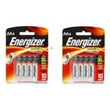 Pack X 2 Blister De Pila Energizer A A  Blister X 4  C/u