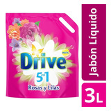 Jabón Líquido Drive Matic Rosas Y Lilas 3l