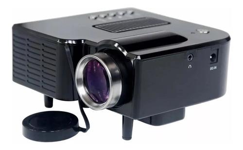 Mini Projetor Portatil 1920x1080 Led 60pol Usb/sd/hdmi H80 Uc-28 Preto