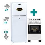 Combo Heladera Refrigerador + Cocina 4 Hornallas Gas Summary