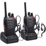 Kit 2 Radio Transmisor Walkie Baofeng 888s + 2 Manos Libres
