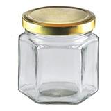 20 Frascos De Vidrio Hexagonal 190 Cc Con Tapa - Envio
