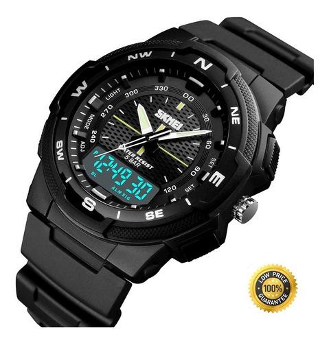 Reloj De Hombre Doble Hora / Luminiscente Alarma Deportivo