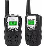 Radios Mini Walkie Talkies Baofeng Bf T3 X 2 Unidades Negro