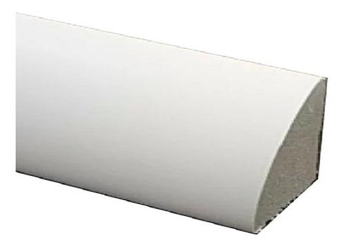 Contra Zocalo Blanco De Plastico Pvc 15x15x2,5 Ml