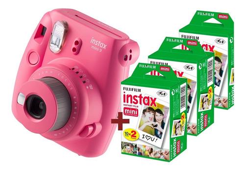 Camara Fuji Instax Mini 9 Pink Flamingo + 60 Fotos