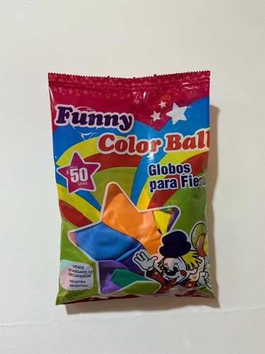 Globos 9 Estándar X 50 Unid Color Multicolor