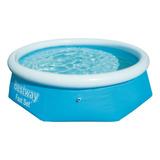Pileta Inflable Redonda Bestway Fast Set 57265 De 244cm X 66cm 2300l Color Azul