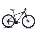 Mountain Bike Topmega Sunshine R29 L 21v Frenos De Disco Mecánico Cambios Shimano Tourney Tz31 Y Shimano Tourney Color Azul