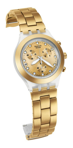 Reloj Swatch Full-blooded Silver / Dorado Usado Como Nuevo
