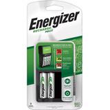 Cargador Maxi Energizer + 2 Pilas Aa Recargables 1300mah