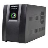 Ups Ts Shara Compact Pro 1400 Automático 1400va  Com Entrada E Saída De 115v/220v Ca Preto
