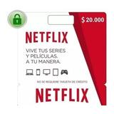 Tarjeta De Regalo Netflix, $23990. Entrega Inmediata.