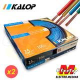 Cable Unipolar Kalop 2,5mm Cat 5 Envio X 2  Electro Medina
