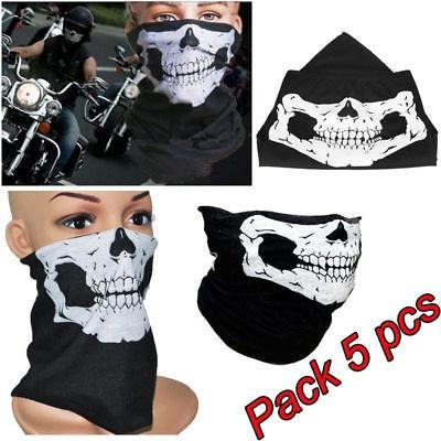 5pcs Bandana Skull Novela Bicicleta Motocicleta Casco Cuello