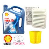 Kit Cambio Aceite Toyota Corolla 1.8 Filtros + Aceite Shell