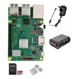 Kit Raspberry Pi 3b+ Uk Completo Con Microsd 32gb Emakers
