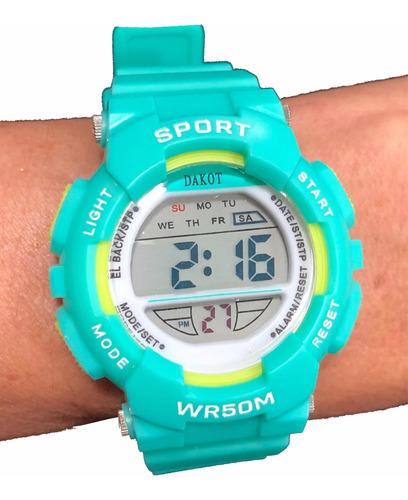 Reloj Digital Dakot Dama Niños  Silicona Sumergible  Tagger
