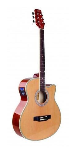 Guitarra Electroacustica Texas Ag60 Lc 5 Natural Eq  Funda