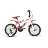 Bicicleta Infantil Raleigh Mxr16 R16 1v Frenos V-brakes Color Blanco/rojo Con Ruedas De Entrenamiento