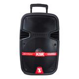 Bocina Kaiser Gem-5712 Portátil Con Bluetooth Negra 110v/240v